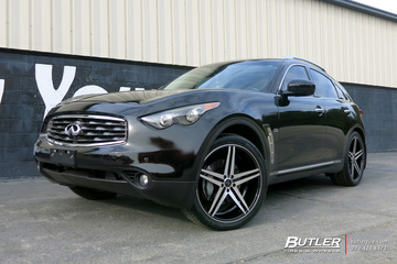Infiniti FX50 with 22in Verde Parallax Wheels