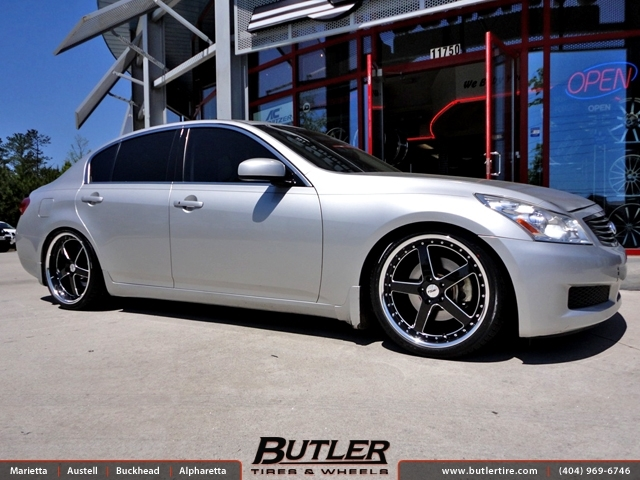 Infiniti G35 with 20in TSW Carthage Wheels