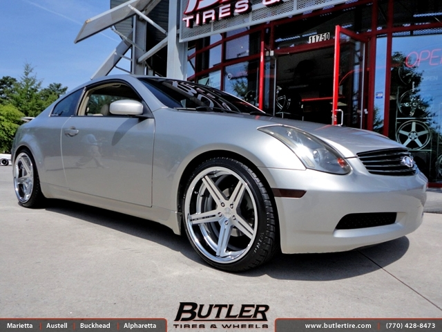 Infiniti G35 with 20in TSW Mirabeau Wheels