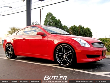 Infiniti G35 with 20in TSW Rivage Wheels