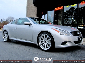 Infiniti G37 with 20in Lexani CVX 55 Wheels