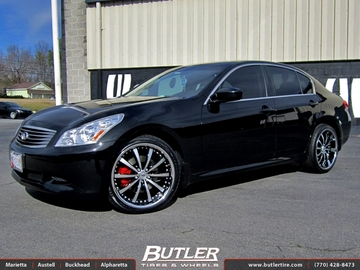 Infiniti G37 with 20in Lexani LSS10 Wheels