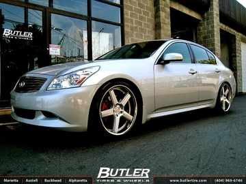 Infiniti G37 with 20in Niche Nurburg Wheels