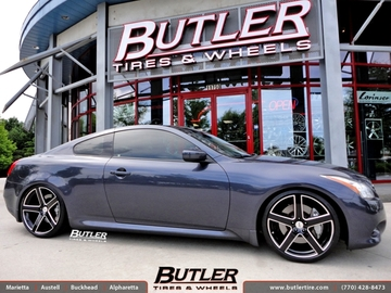 Infiniti G37 with 20in TSW Rivage Wheels