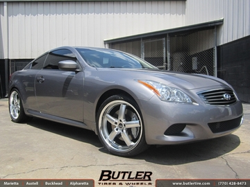 Infiniti G37 with 20in TSW Stowe Wheels