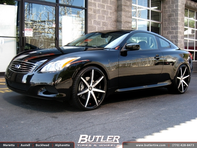 Infiniti G37 with 22in Lexani R-Seven Wheels