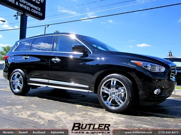 Infiniti JX35 with 20in TSW Stowe Wheels