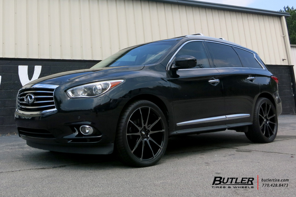 Infiniti JX35 with 22in Savini BM12 Wheels exclusively from Butler Tires and Wheels in Atlanta ...