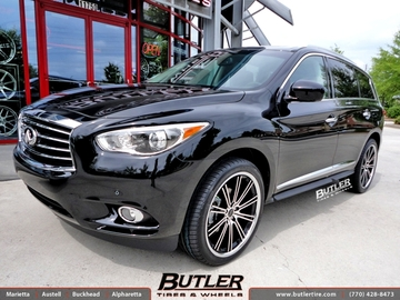Infiniti JX35 with 22in Savini BM3 Wheels