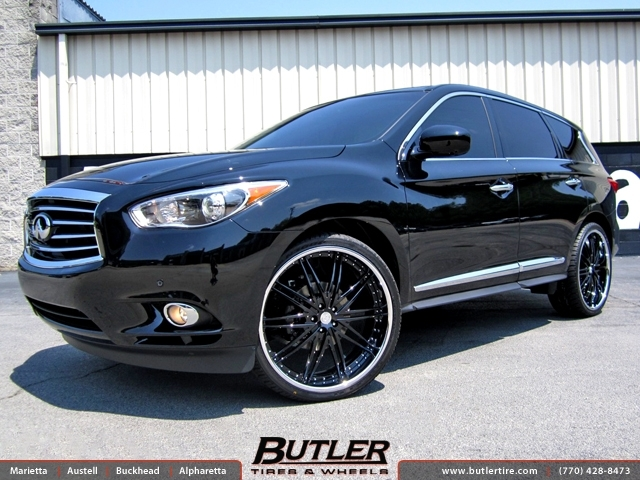 Infiniti JX35 with 24in DUB Mixer Wheels