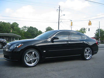Infiniti M35 with 20in DRIV Vixen Wheels