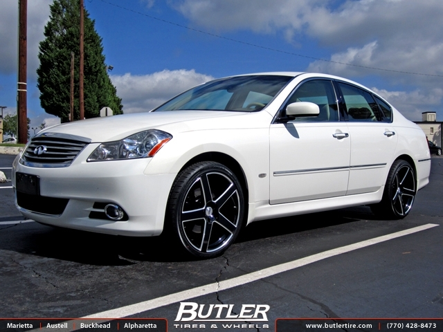 Infiniti M35 with 20in TSW Rivage Wheels