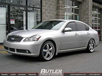 Infiniti M35 with 20in TSW Stowe Wheels
