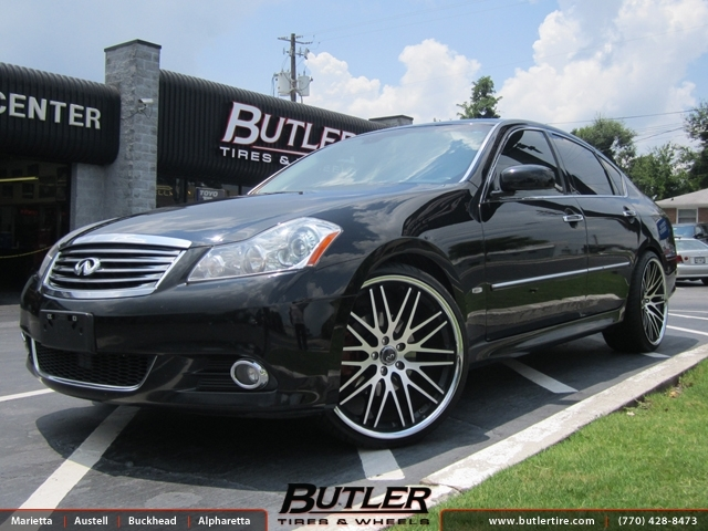 Infiniti M35 with 22in Lexani CVX 44 Wheels