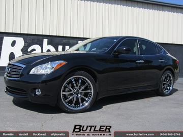 Infiniti M37 with 20in Savini BM1 Wheels