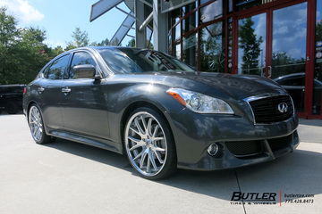 Infiniti M37 with 22in Asanti ABL3 Wheels