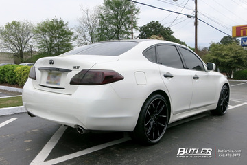 Infiniti M37 with 22in Lexani R-Twelve Wheels