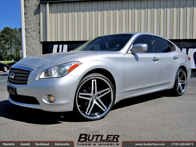 Infiniti M37 with 22in Lexani R-Five Wheels