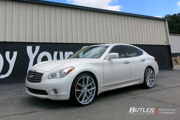 Infiniti M37 with 22in Lexani Stuttgart Wheels