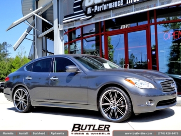 Infiniti M37 with 22in Savini BM3 Wheels