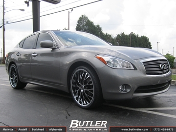 Infiniti M37 with 22in Verde Z92 Wheels