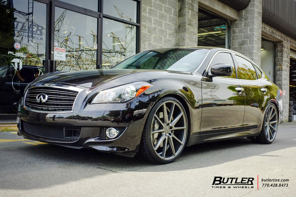 Infiniti M37 With 22in Vossen Vfs1 Wheels Exclusively From