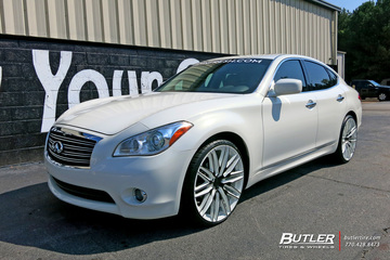 Infiniti M56 with 22in Niche Anzio Wheels