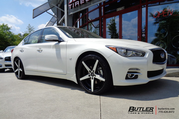 Infiniti Q50 with 20in Lexani R-Four Wheels