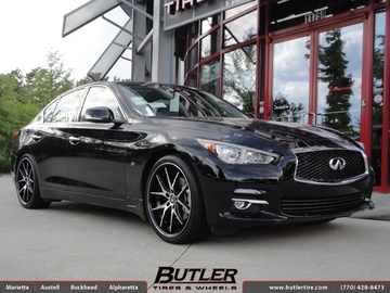 Infiniti Q50 with 20in Lexani R-Twelve Wheels