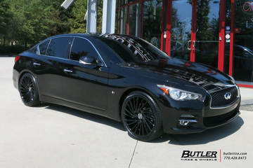 Infiniti Q50 with 20in Lexani Wraith Wheels