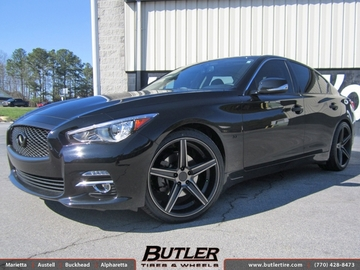 Infiniti Q50 with 20in Niche Apex Wheels