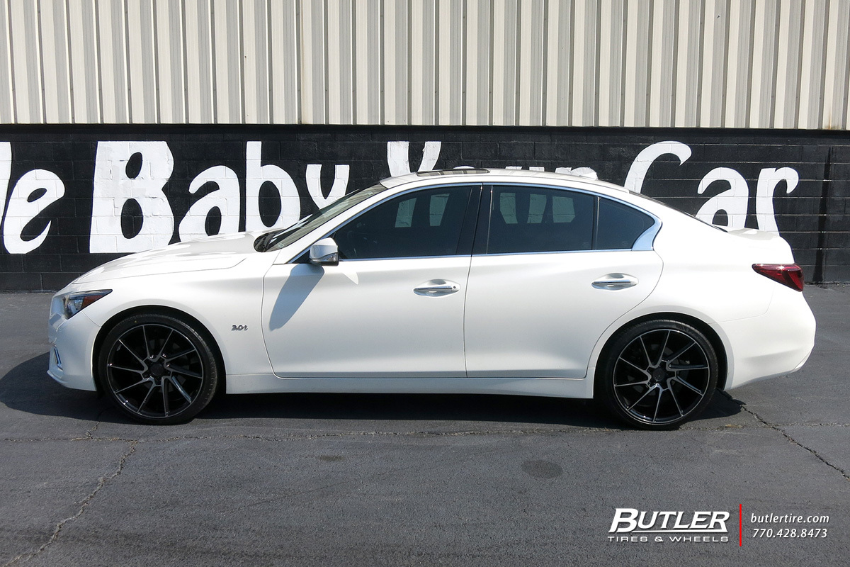 Infiniti Q50 with 20in Savini BM15 Wheels