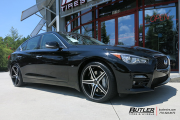Infiniti Q50 with 20in Savini BM8 Wheels