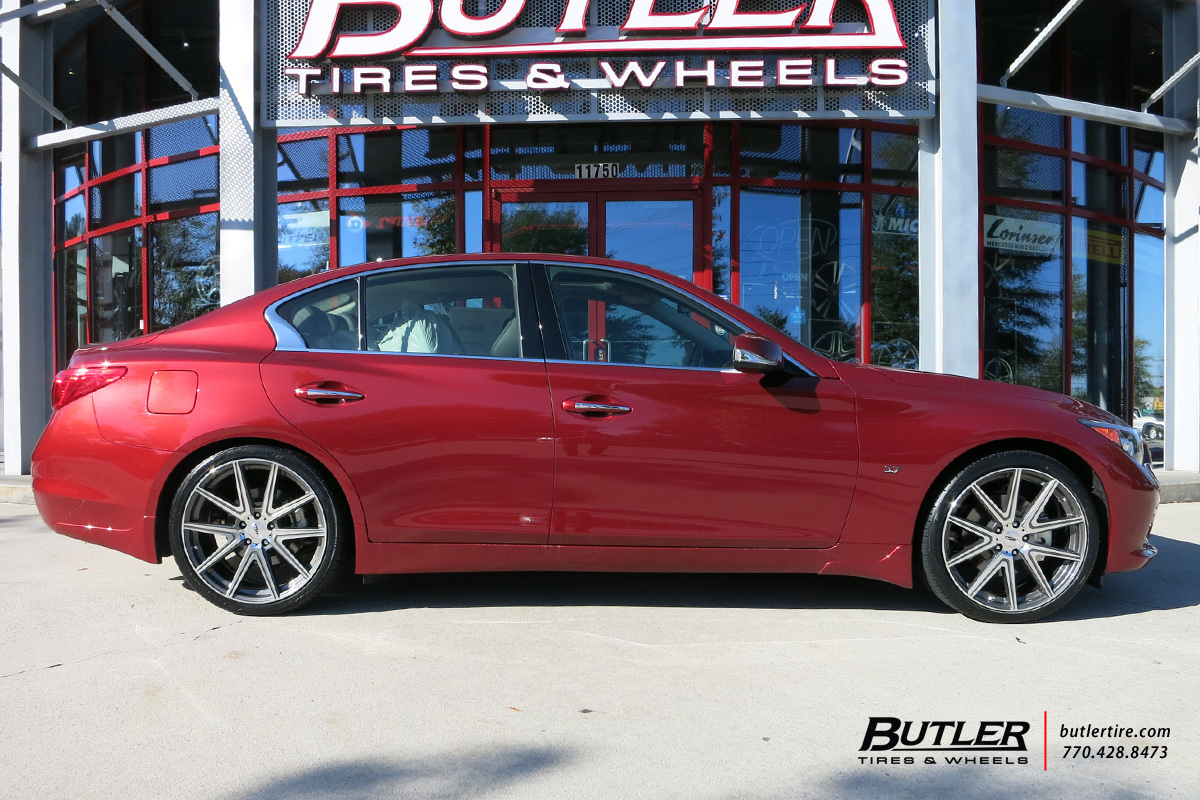 Infiniti Q50 With 20in Tsw Rouge Wheels Exclusively From