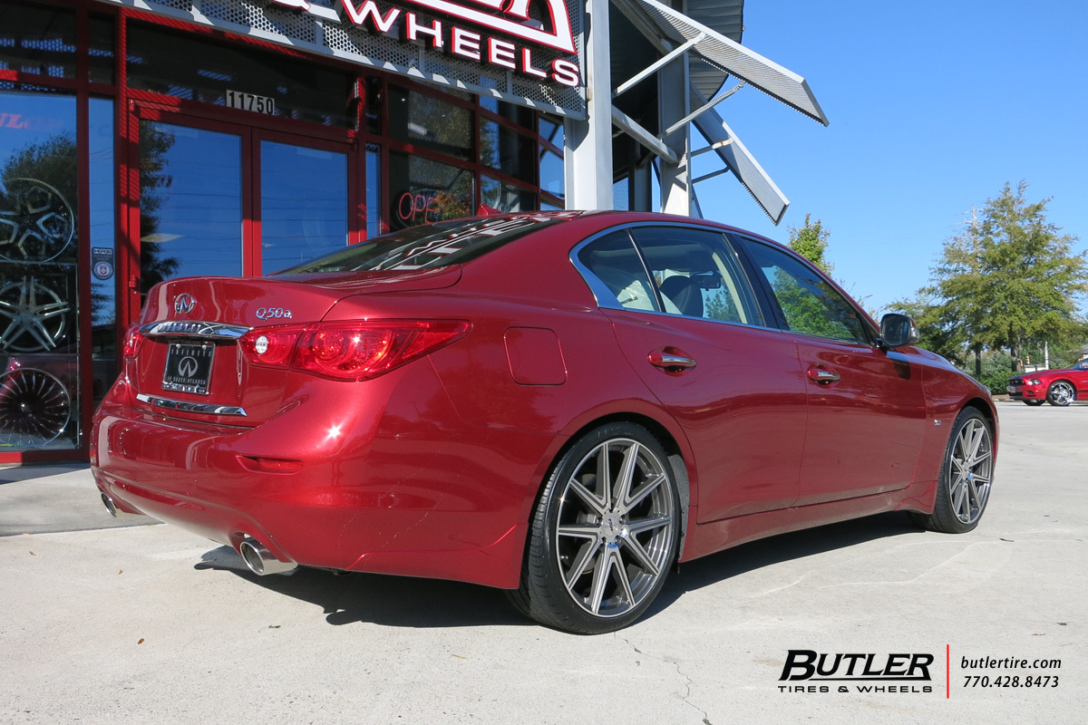 Infiniti Q50 with 20in TSW Rouge Wheels
