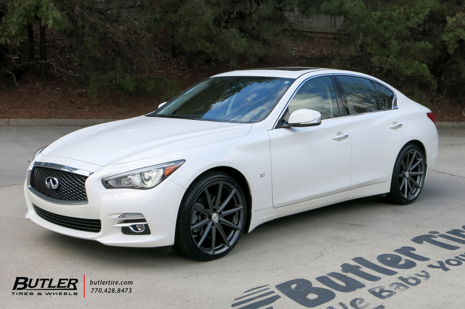 Infiniti Q50 with 20in Vossen VFS10 Wheels exclusively from Butler Tires and Wheels in Atlanta ...