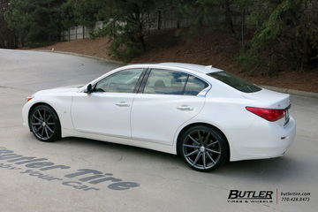 Infiniti Q50 with 20in Vossen VFS10 Wheels