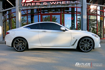Infiniti Q60 Coupe with 20in Vossen CVT Wheels