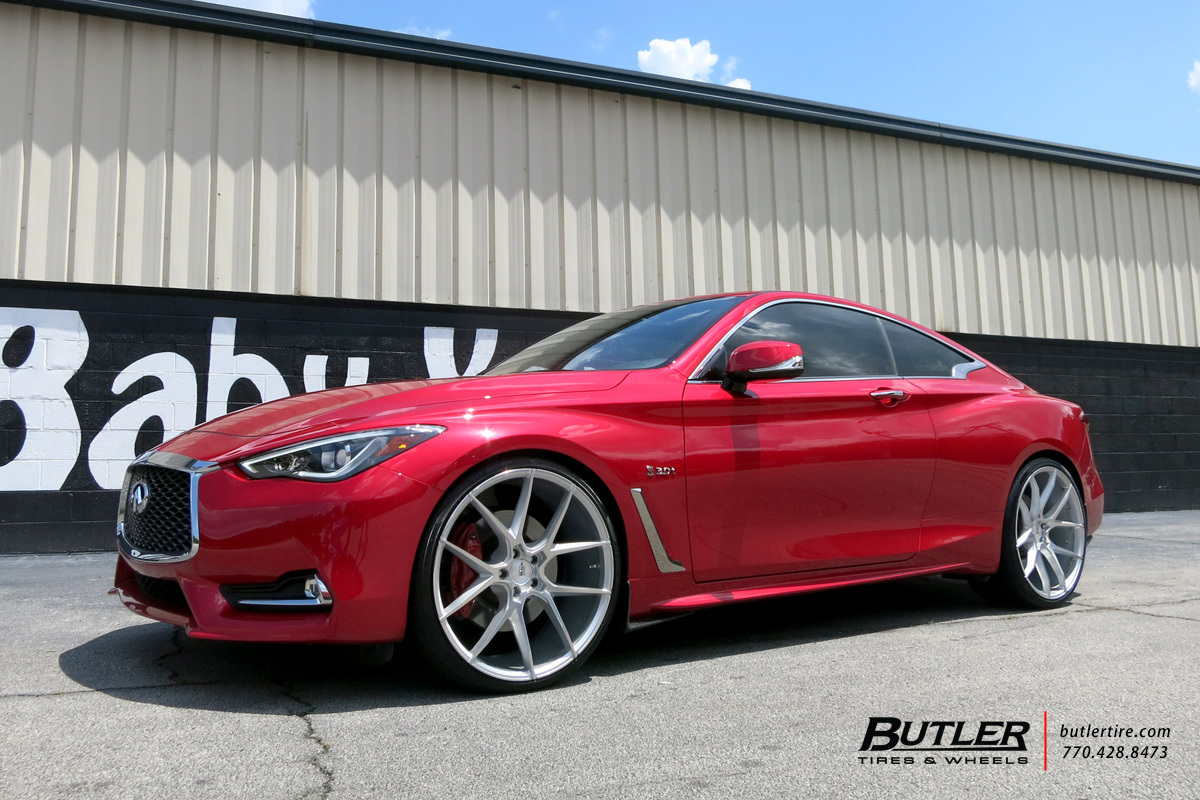 Infiniti Q60 Coupe with 22in Savini BM14 Wheels