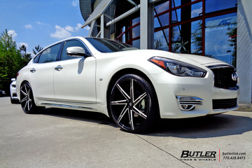 Infiniti Q70 with 22in Lexani CSS7 Wheels