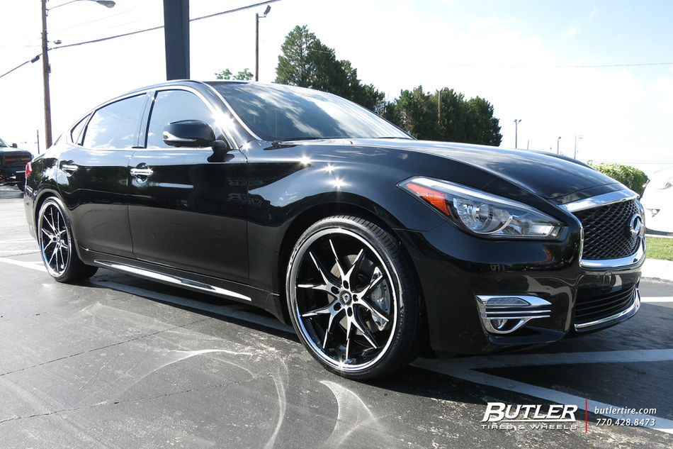 Infiniti Q70 with 22in Lexani R-Twelve Wheels exclusively from Butler Tires and Wheels in ...