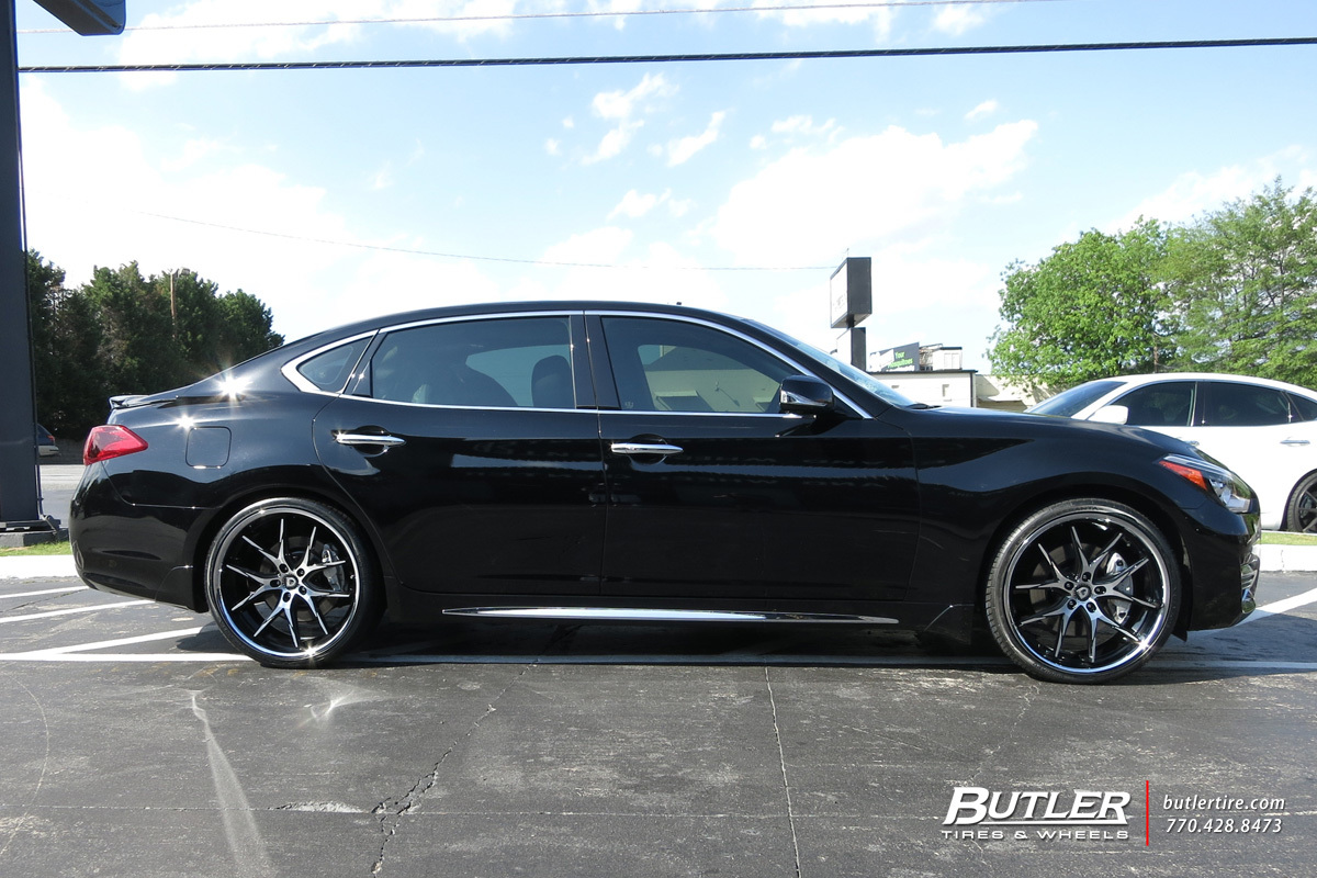 Infiniti Q70 with 22in Lexani R-Twelve Wheels exclusively ...
