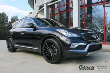 Infiniti QX50 with 20in Lexani Pegasus Wheels