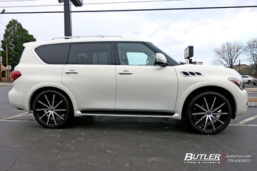Infiniti QX56 with 24in Lexani CSS15 Wheels