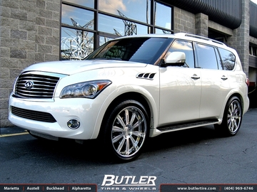Infiniti QX56 with 24in Mint X Wheels