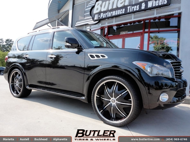 Infiniti QX56 with 26in DUB Doggy Style Wheels