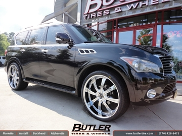 Infiniti QX56 with 26in Savini BM5 Wheels