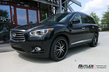 Infiniti QX60 with 22in Lexani Polaris Wheels