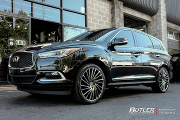 Infiniti QX60 with 22in Lexani Wraith Wheels