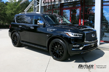 Infiniti QX80 with 24in Black Rhino Kunene Wheels